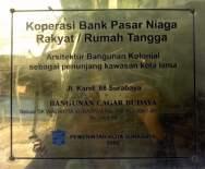 Plakat Gedung Bank Pasar Niaga