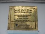 Plakat Rumah Wafat WR. Supratman
