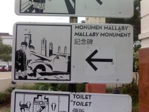Papan Petunjuk Spot Mallaby