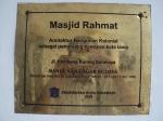 Plakat Masjid Rahmat
